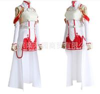 high quality dress Latest cartoon cartoon Sword Art Online Asuna Cosplay Costume Free shipping