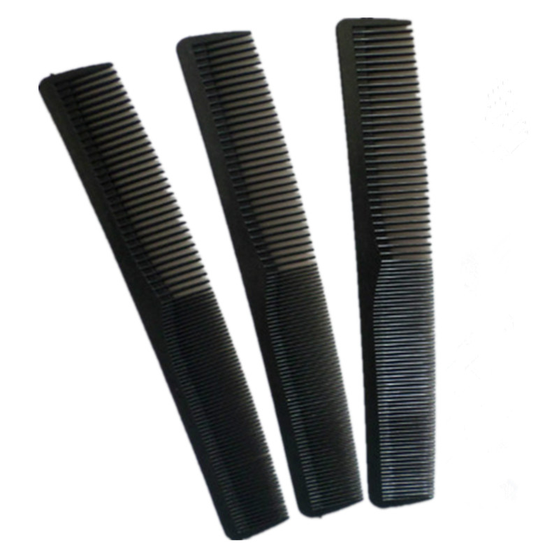 1 Pcs/set New Tail Black Professional Combs Hairdressing Comb Two Carbon Anti Static Comb Hair Cutting Comb Set Pro