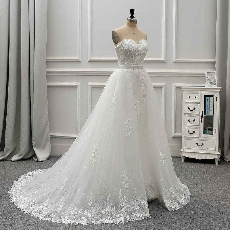 Vintage Lace Wedding Dresses Detachable Train Chinese Wedding Gown ...