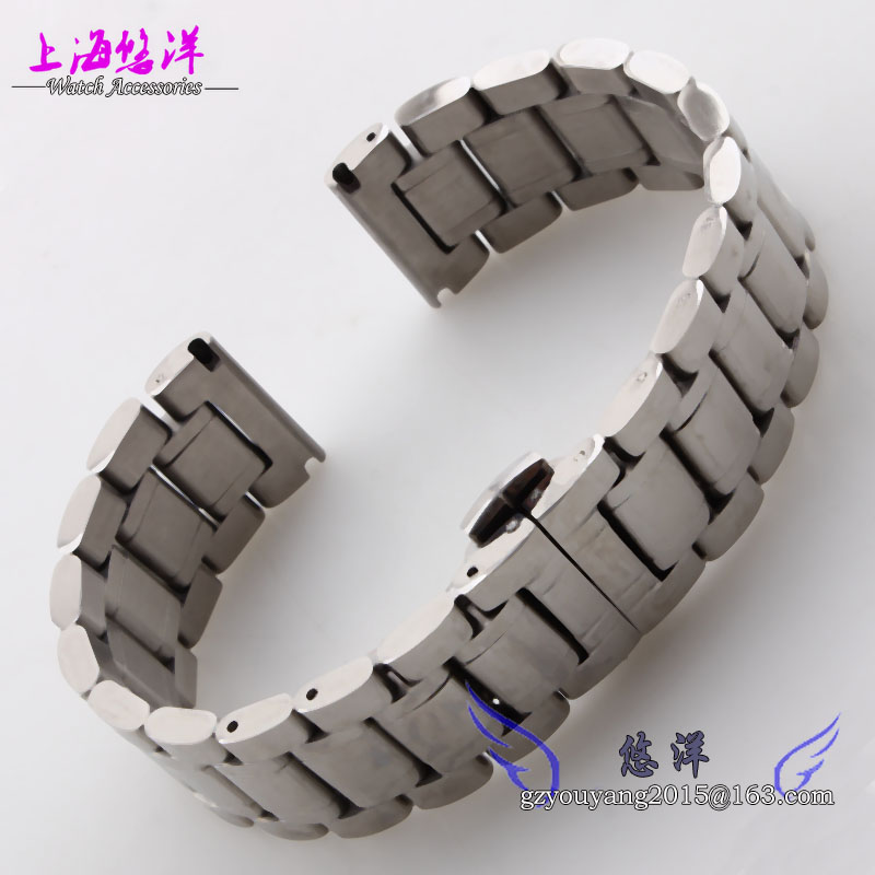 Solid stainless steel strap hook steel belt adapter watch 22 mm black men and women