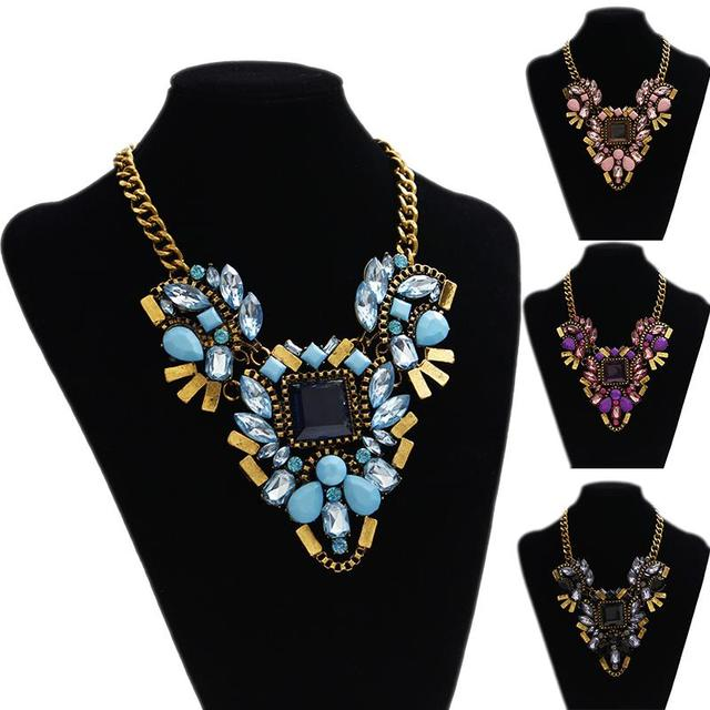F&U New Heavy metal chain fashion necklace collar chunky choker pendant statement necklace Necklaces & pendant Mixed style!N152