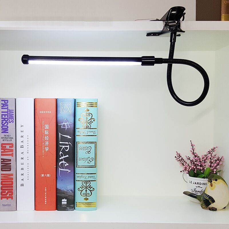 DX LED Book Reading Table Light Lamp Bright Flexible Adjustable Clip-on Arm Study Desk Light LED Book Lamp USB Reading Lamp сковорода блинная нмп литая титан 20 см антипр покр литой алюм