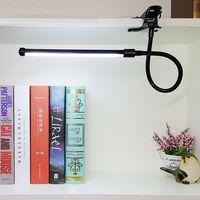 DX LED Book Reading Table Light Lamp Bright Flexible Adjustable Clip on Arm Study Desk Light LED Book Lamp USB Reading Lamp