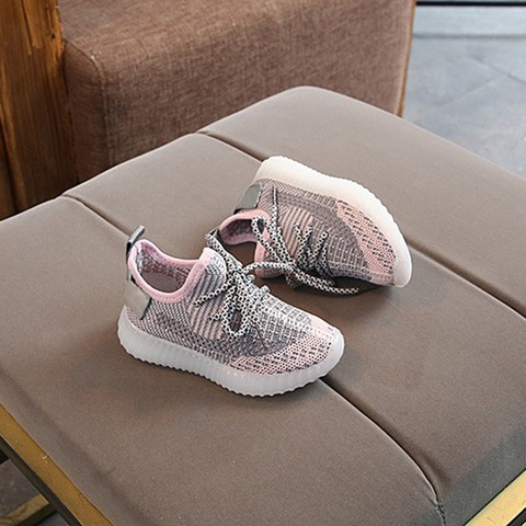 Toddler Boy Sneakers Children Baby Boys Mesh Led Light Luminous Running Sport Sneaker Shoes Chaussure Lumineuse Pour Garcon Islamabad