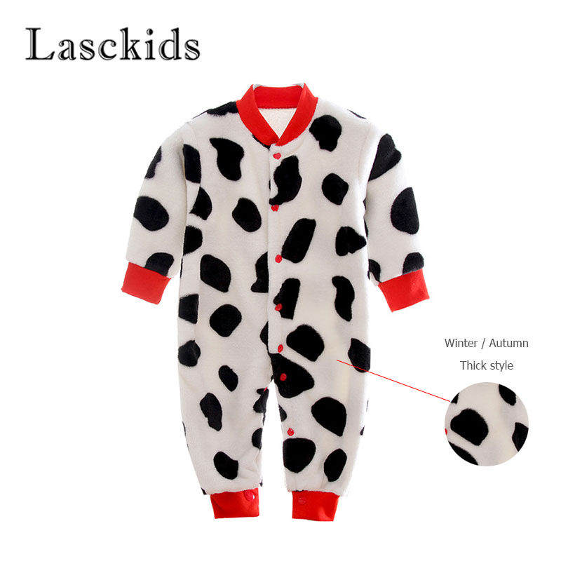 Lasckids Winter Autumn Bebes Rompers Baby Boy Girl Clothes Jumpsuit Flannel Soft Warm Baby Romper Overalls Thick Bebe Clothing