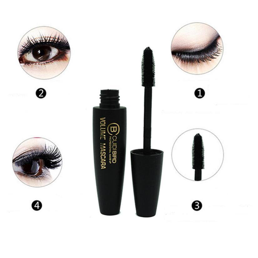 1PC 3D Multi functional Mascara Waterproof Liquid Fiber Long Black Eye Lashes Eyelashes Curling Mascara Brush Makeup Extension in Mascara from Beauty Health