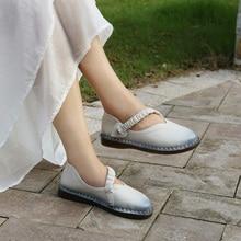 Для женщин Весна пояса из натуральной кожи обувь на низком каблуке женские эспадрильи шипы на подошвах мокасин sapatilha brethable туфли без каблуков 1812