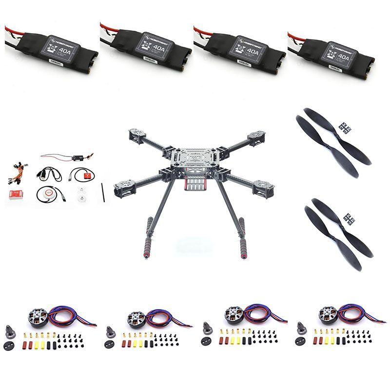 ZD550 quatre axes pliant rack bricolage kit d'assemblage en fiber de carbone drone aérien photographie aérienne