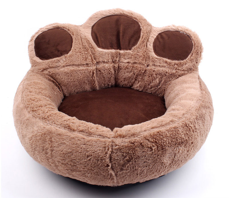 CAWAYI KENNEL Paw Shape Pet Dog Cat Bed Sofa Nest Soft PP Cotton Dog Warm Kennel Bed House Pet Mats Cushion Removable D1065 6