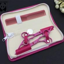 SMITH CHU 6″ pink titanium scissors cheap hairdressing scissors professional hair scissors barber shop supplies thinning shears