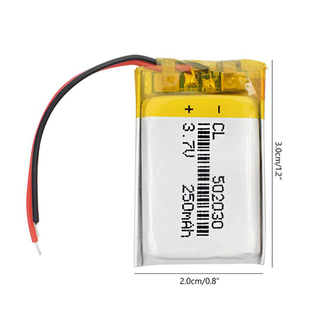 1pcs 3.7V 250mAH 502030 Polymer Lithium battery Polymer Lithium ion Battery 1