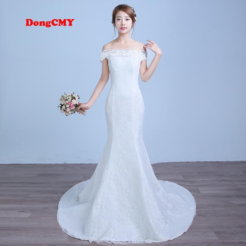 DongCMY 2019 nou sosire lung alb culoare rochie de mireasa rochie de mermaid vestido de noiva rochie de mireasa