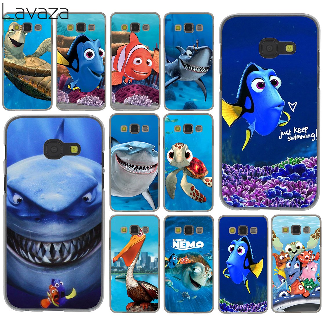 Lavaza Finding Nemo Marlin Dory Nem ֆիլմը Hard for Samsung Galaxy Note 10 9 8 A9 A8 A7 A6 Plus 2018 A5 A3 2015 2016 2017 A2 Cover