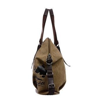 Women's Bag Canvas Handbag Female Designer Shoulder Bag Ladies Large Tote 1