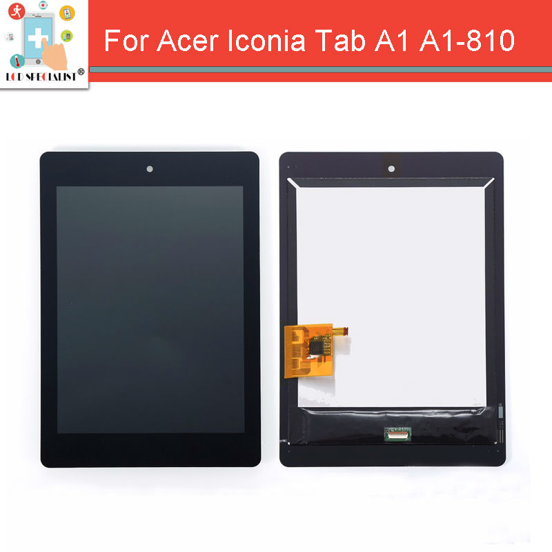 For 7.9 Acer Iconia A1 A1-810 Tab LCD Display Panel With Touch Screen Digitizer Glass Sensor Assembly Repair Parts Replacement original new 10 1 inch touch panel for acer iconia tab a200 tablet pc touch screen digitizer glass panel free shipping