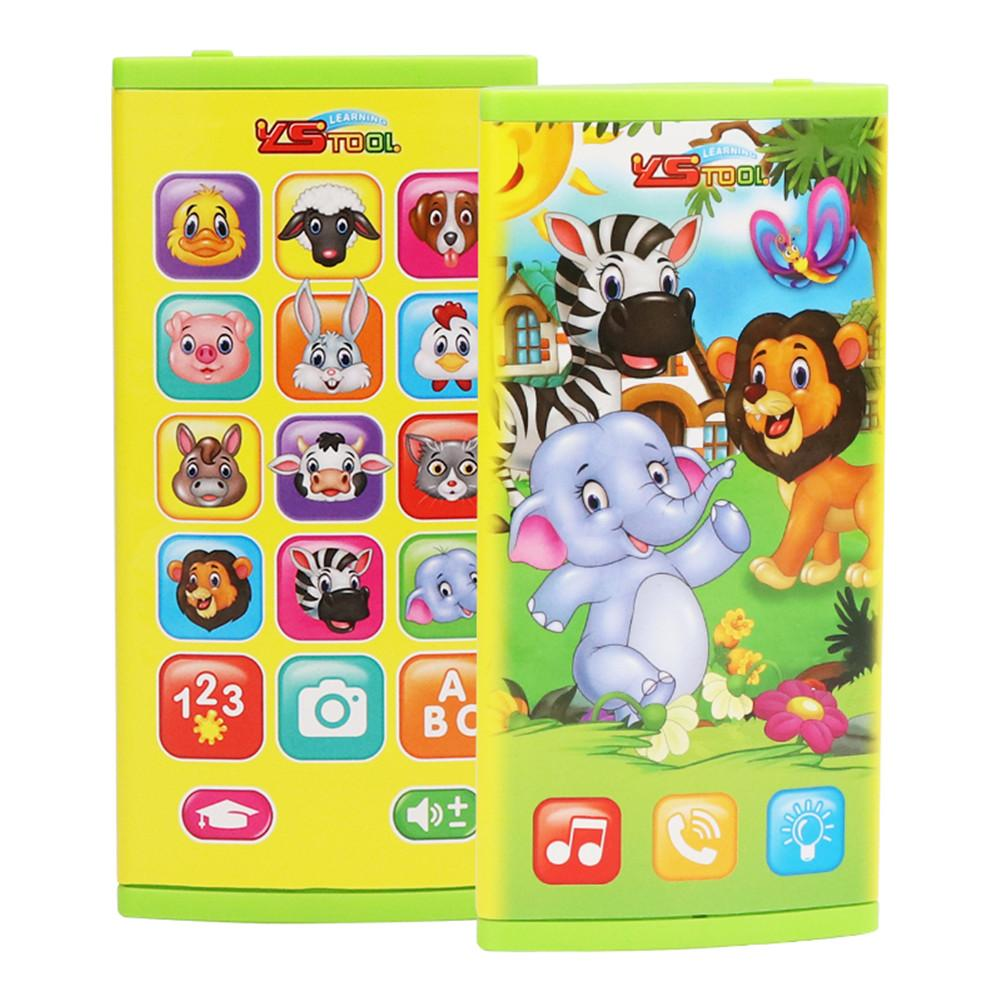 Children's Early Childhood Education Sounding Music Double-sided Screen Multi-functional Mobile Phone Electric Toy