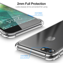 Clear Shockproof Soft Silicone Transparent iPhone Cases