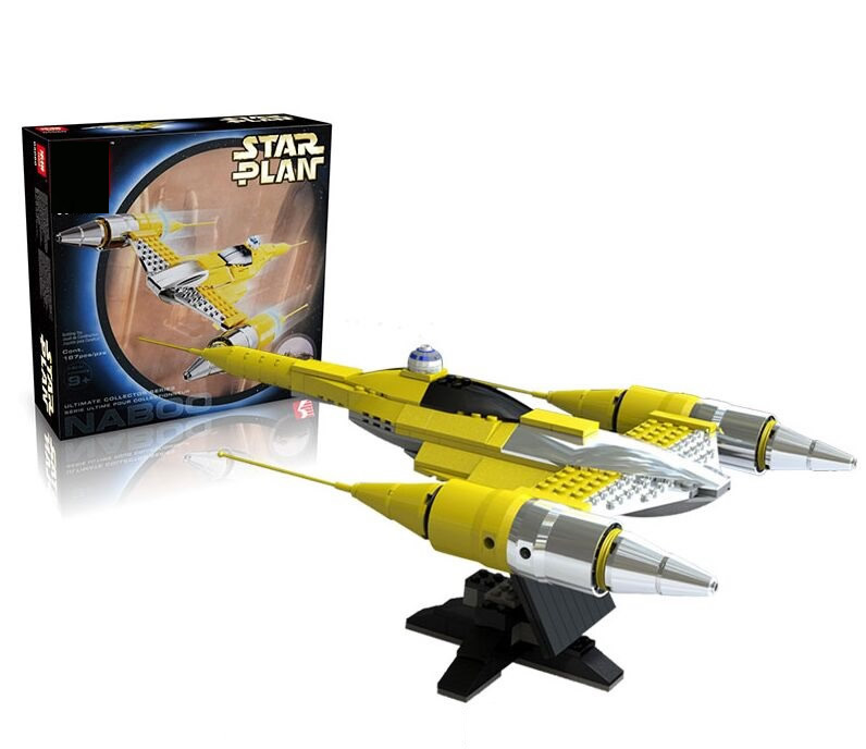 Star Wars Special Edition Naboo Starfighter Building Model Spaceship Toys Boys Gift Same as 10026