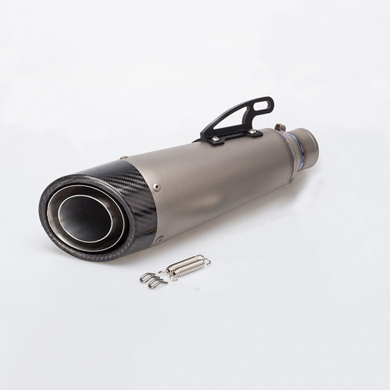 Universal 51mm Titanium Alloy Motorcycle Exhaust Muffer Pipe ATV Muffler Escape Dirt Bike Scooter For Most Motorbike