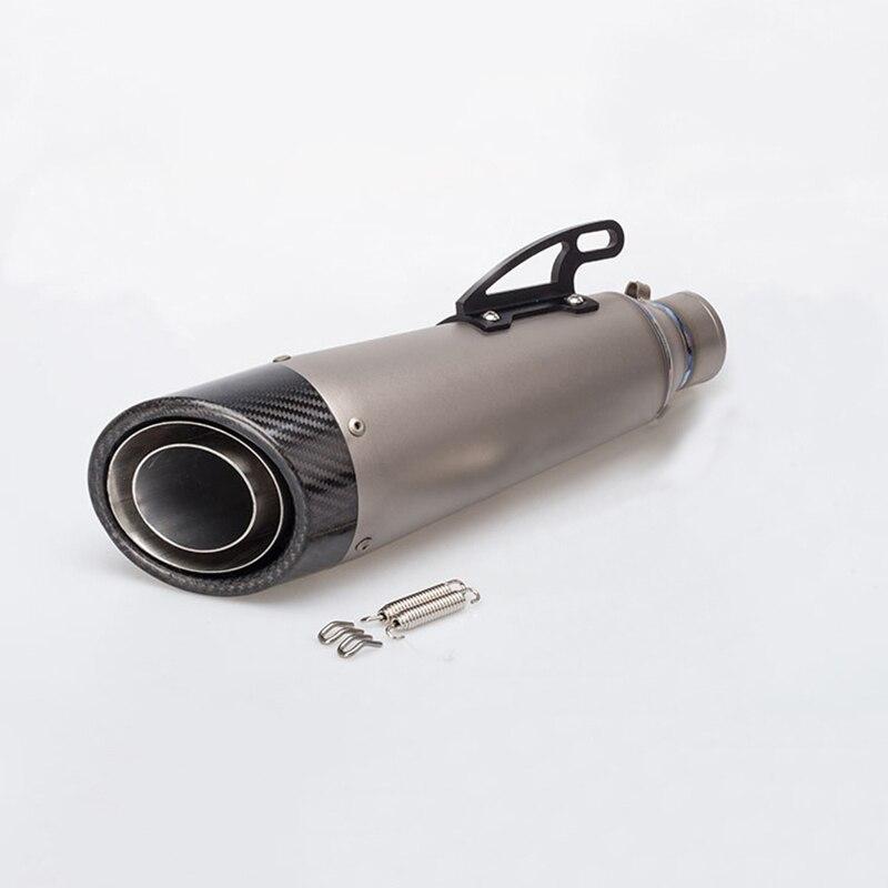 Universal 51mm Titanium Alloy font b Motorcycle b font font b Exhaust b font Muffer Pipe