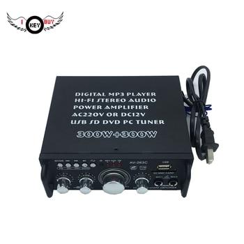 1PC Hohe Qualität 220V 12V MIni 2CH Auto Verstärker Stereo USB SD Card Player FM Elektronische Digital Für Automobil Hause I Schlüssel Kaufen