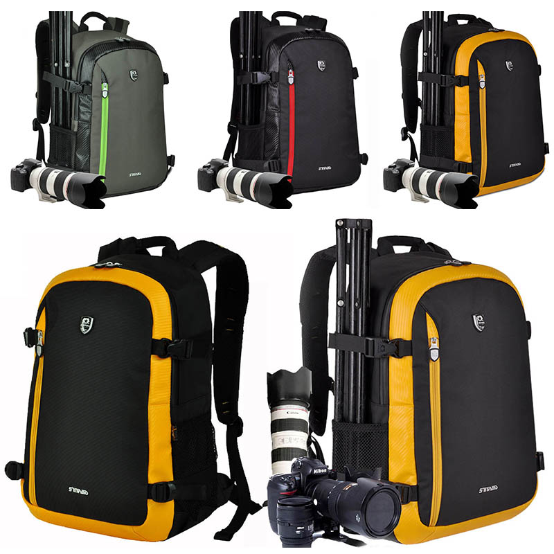 High Quality Digital DSLR SLR Camera Bag Backpack Waterproof Travel Photography Camera Video shoulder bag For lens tripod bagsmart dslr slr camera shoulder bag water repellent polyester with rain cover green grey black
