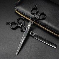 Brand Pet Grooming Scissors Set 7 Inch Professional Japan 440C Dog Shears Hair Cutting ThinningScissors With Bag