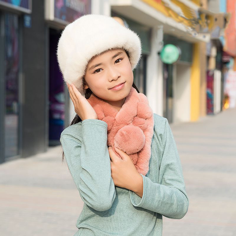 NEW 2016 Fashion Children's Autumn and Winter Mink Fur Hat Whole Mink Belt Brim Hat for Girl and Boy Baby's Solid Hat hm039 real genuine mink hat winter russian men s warm caps whole piece mink fur hats