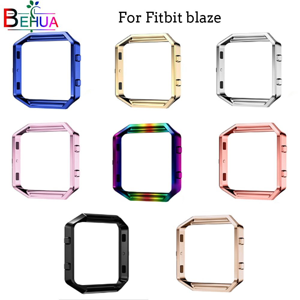 Metal Protective Case Frame Case Cover Shell For Fitbit Blaze Stainles Steel Replacement Case Activity Tracker Watch Accessories