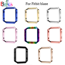 Metal protective case Frame Case Cover Shell For Fitbit Blaze Stainles Steel Replacement case Activity Tracker Watch Accessories crested for fitbit blaze frame replacement stainless steel case activity tracker smart watch accessories