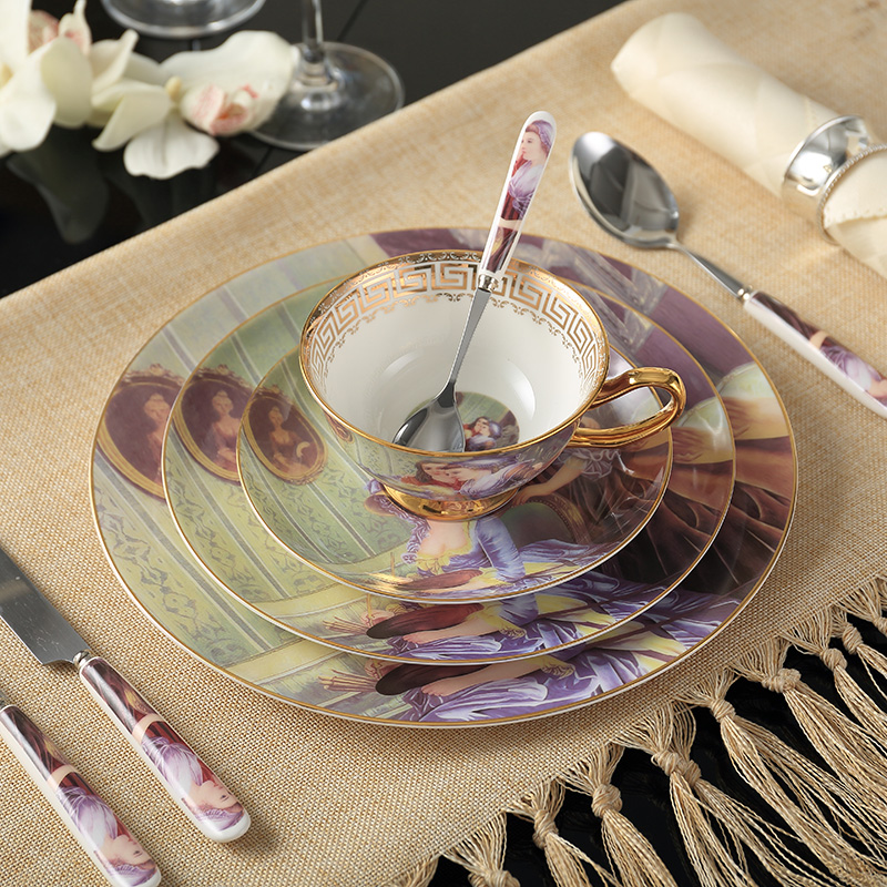 elegant vintage painting bone china dinnerware sets with spoon fork knife dishes and plates advanced flatware cutlery with cheap china dinnerware sets & Cheap China Dinnerware Sets. Fabulous Cheap Dinnerware Sets On Sale ...