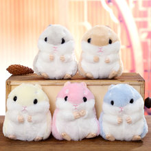 Moda Mini Hamster Chaveiros Chaveiros Faux Rabbit Fur Pompom Fofo Bugigangas Carro Bolsa Pingente Chian Chave Anel Titular(China)