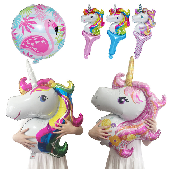 Rainbow Unicorn Foil Balloons Birthday Party Decorations Kids Adults Baby Shower Wedding Decoration Bachelorette Party Supplies