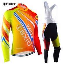 Bxio Winter Thermal Fleece Cycling Sets Super Warm Bike Clothing Pro Black Bicycle Jerseys Ropa Ciclismo