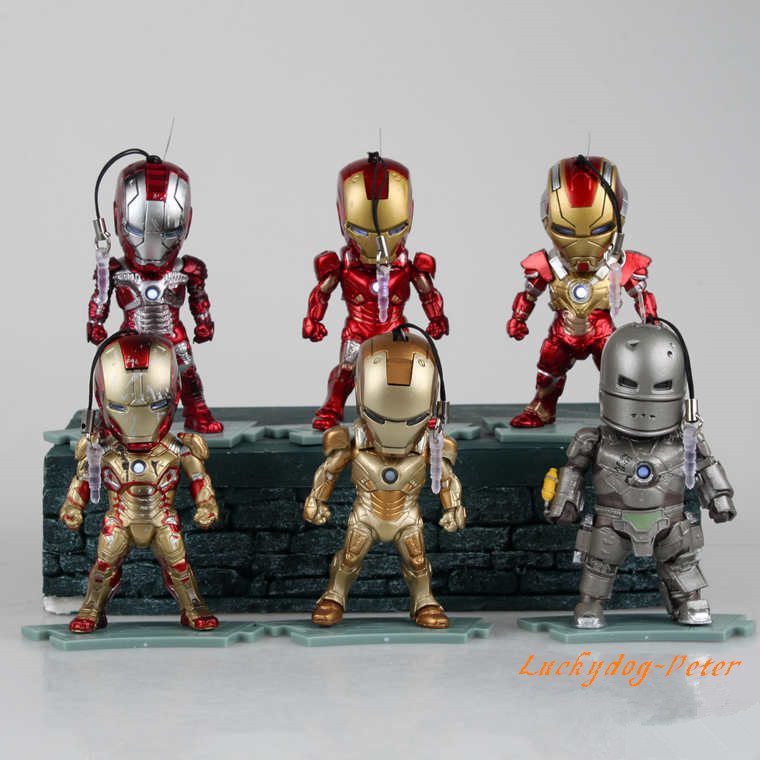 Buy action figure toys iron man 1 10 - Mini iron man ...