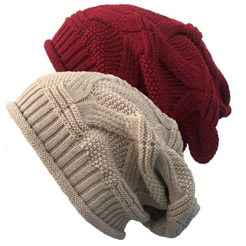 Gorros de invierno con bufandas hombres y mujeres gorros de punto calinetes