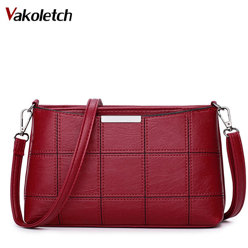 Small PU Leather Bags Women Shoulder Bag Female Crossbody Bags for Women 2018 Clutch Purse bolsa feminina Red Handbag KL302 hot spanish vintage style pu leather tote women bag new purse and handbag retro female shoulder bags clutch bolsa feminina canta
