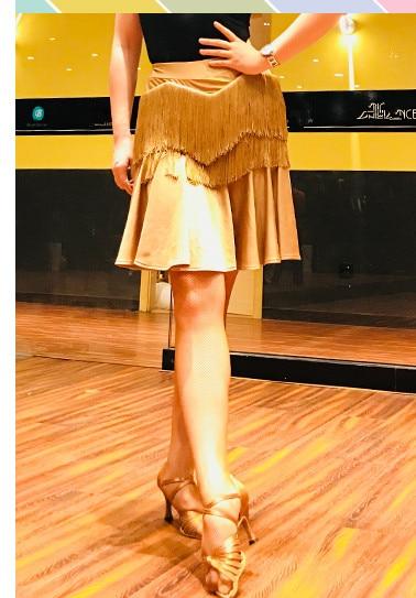New Design Women Dance Shirt Ballroom Modern Salsa Tango Samba Fringe Latin Training Shirts Female Adult Dance Costumes Black