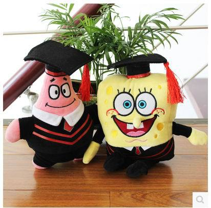 ФОТО Free shipping 22cm super cute plush toy soft anime cosplay doll for kids toys cartoon figure cushion home decoration squarepants