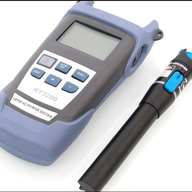 Fiber Optic RY3200 Handle Optical Power Mete and 10mW Visual Fault Locator Fiber Optic Cable Optical Power Meter red one machineFiber Optic RY3200 Handle Optical Power Mete and 10mW Visual Fault Locator Fiber Optic Cable Optical Power Meter red one machine
