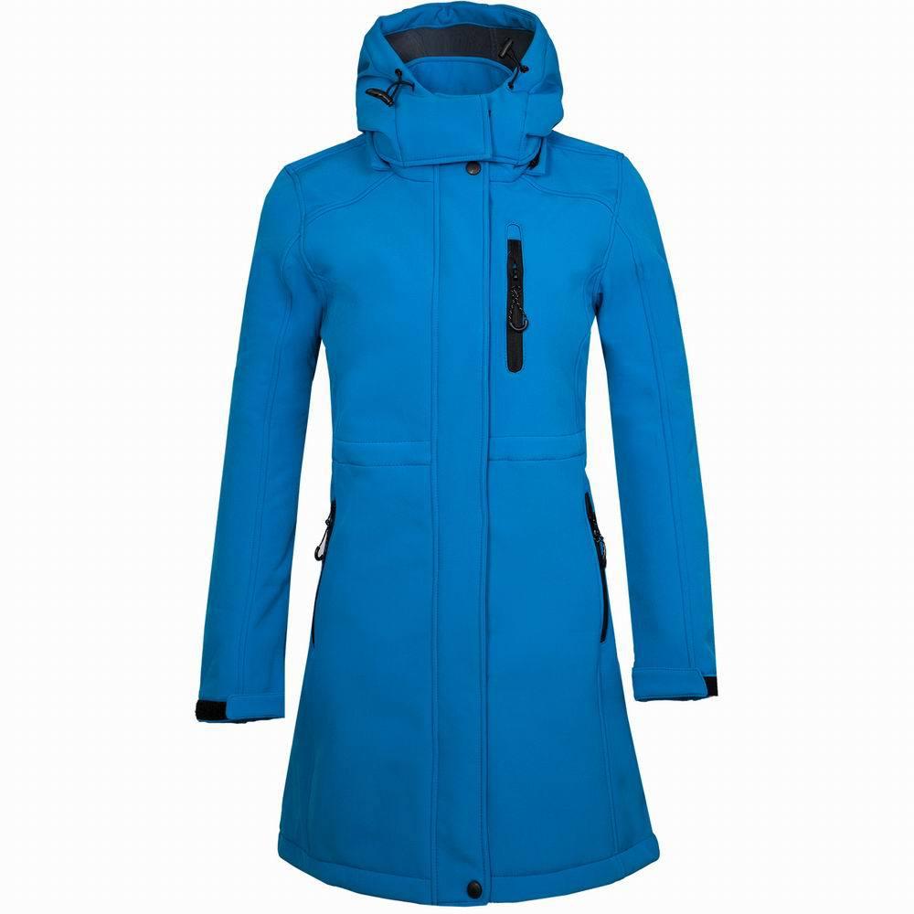 Outdoor Inner Fleece Hiking Long Coat Autumn Hooded Softshell Jacket Hunting Escalada Jackets Windbreaker Jaqu Womens Coats