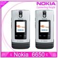 100% оригинал Nokia 6650 мобильный телефон 3 г GSM открыл раскладной телефон и сроком на один год