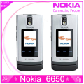 100% Original Nokia 6650 Mobile Phone 3G GSM Unlocked Flip Phone & one year warranty