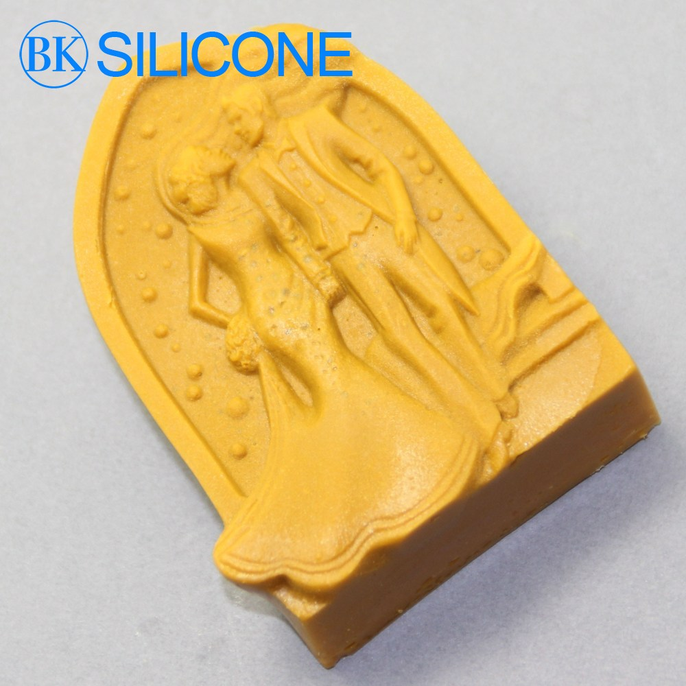 Wedding silicone mold Bride and Groom Sweet happy Cake mold soap mold rtv silicone rubber BK