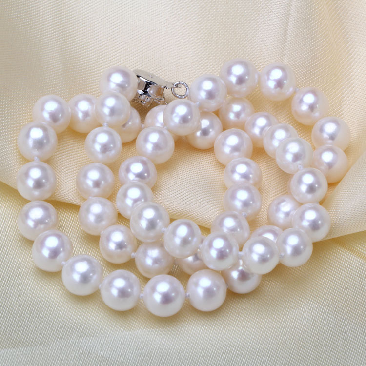 925 silver real natural big Zhuji freshwater pearl necklace 8-9mm round bright pearl jewelry wholesale factory outlets925 silver real natural big Zhuji freshwater pearl necklace 8-9mm round bright pearl jewelry wholesale factory outlets