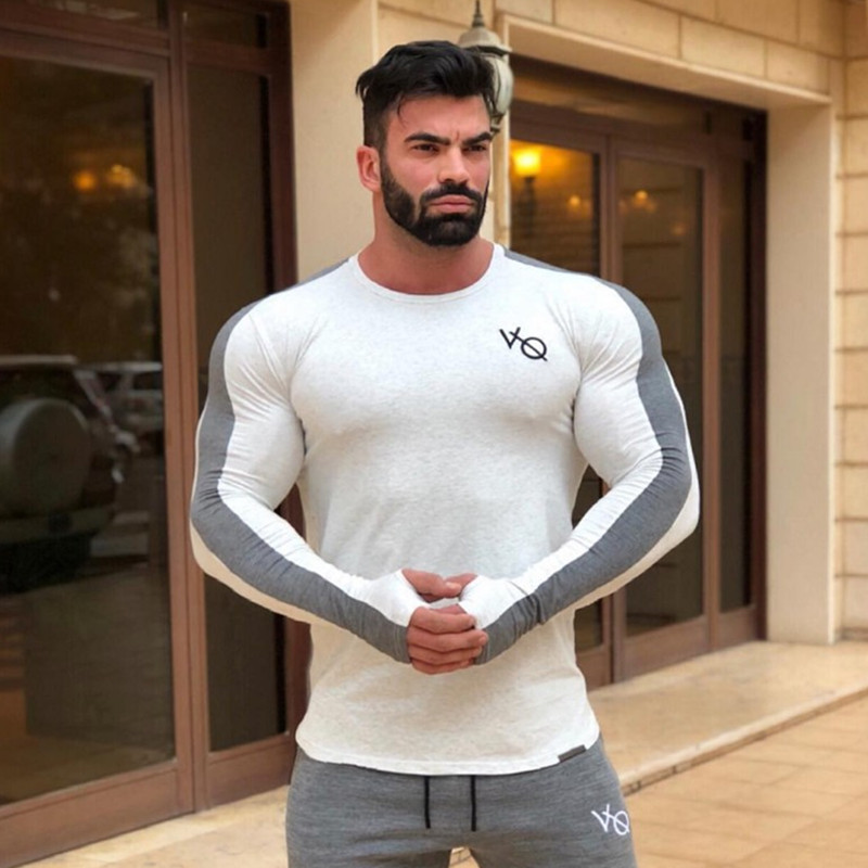 Brand Men fashion   t     shirt   2018NEW Spring summer Slim   shirts   male Tops Leisure Long Sleeve personality tees clothing