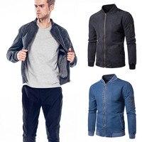 Womail Для Мужчин's Куртки для отдыха теплая джинсовая куртка Для мужчин мужской Куртки весна-осень одноцветное большой карман мужской пиджак JL 26