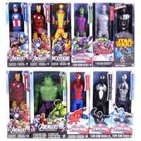 12 30CM Super Hero Avengers Action Figure Toy Captain America Iron Man Wolverine Spider Man Raytheon