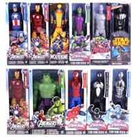 12 30CM Super Hero Avengers Action Figure Toy Captain America Iron Man Wolverine Spider Man Raytheon