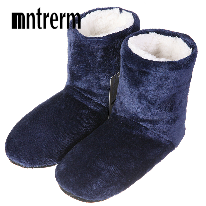 Mntrerm New Winter Plush Slippers Men Home Slippers botas Fashion Warm Shoes Men Autumn Slippers Home Shoes Large Size Hot Sale fongimic comfortable women slippers women casual indoor plush shoes autumn winter warm fashion slippers hot sale flat slippers